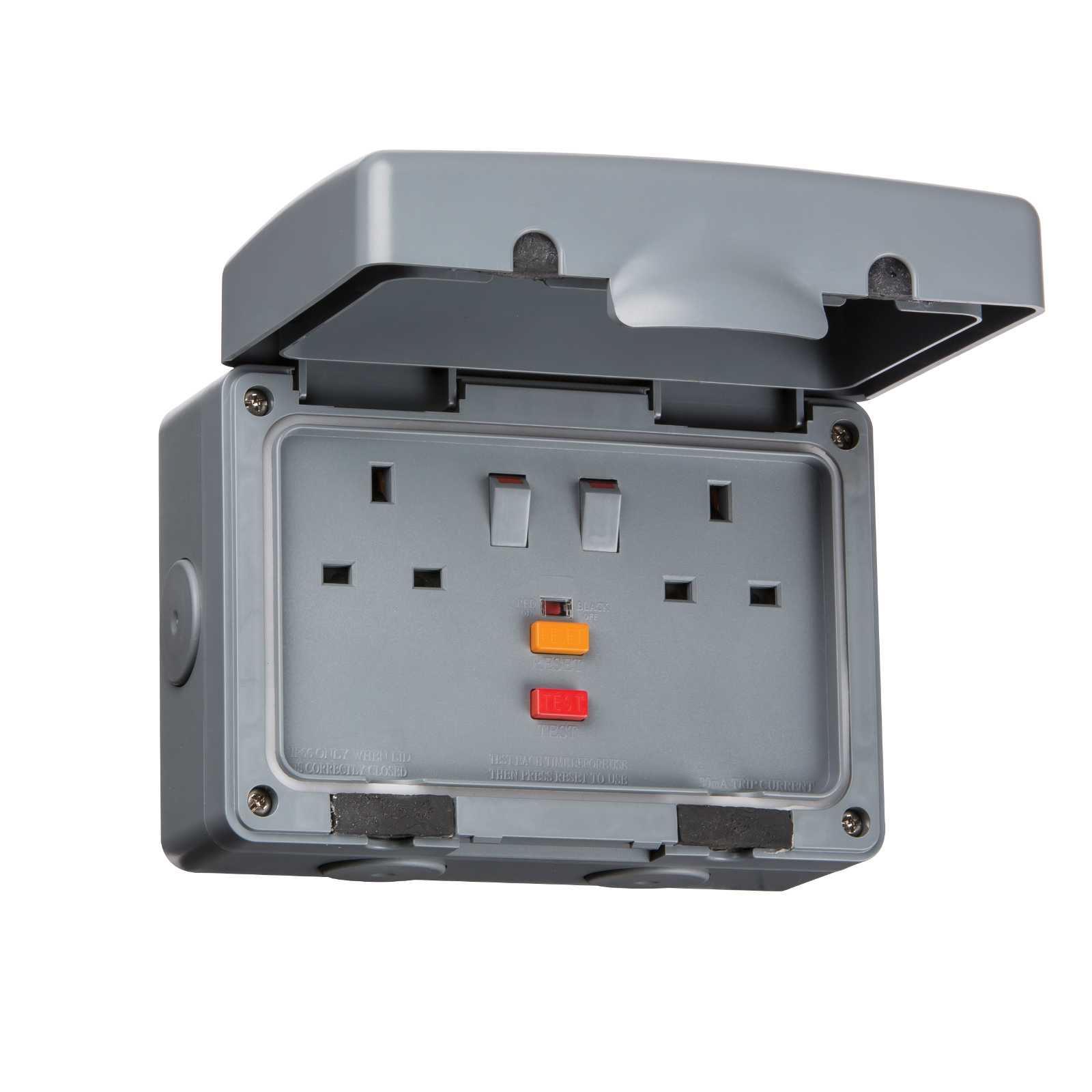 IP66 13A RCD 2G SWITCHED SOCKET