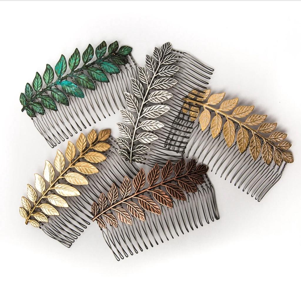 Large Leaf Hair Comb