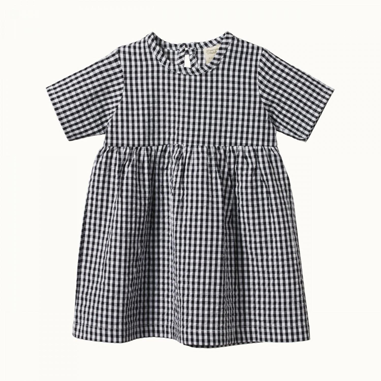 MARGOT DRESS - NAVY CHECK