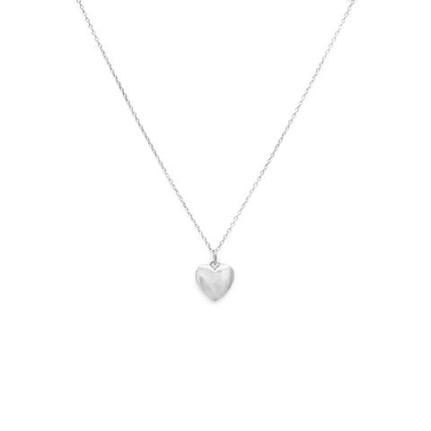 MELANIE AULD - FULL HEART NECKLACE IN SILVER