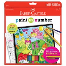 PAINT BY NUMBER FAIRY GARDEN WATERCOLOR ECOPENCILS