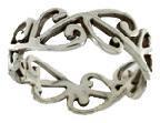 Ring Stg Silver Mens Kowhaiwhai Large