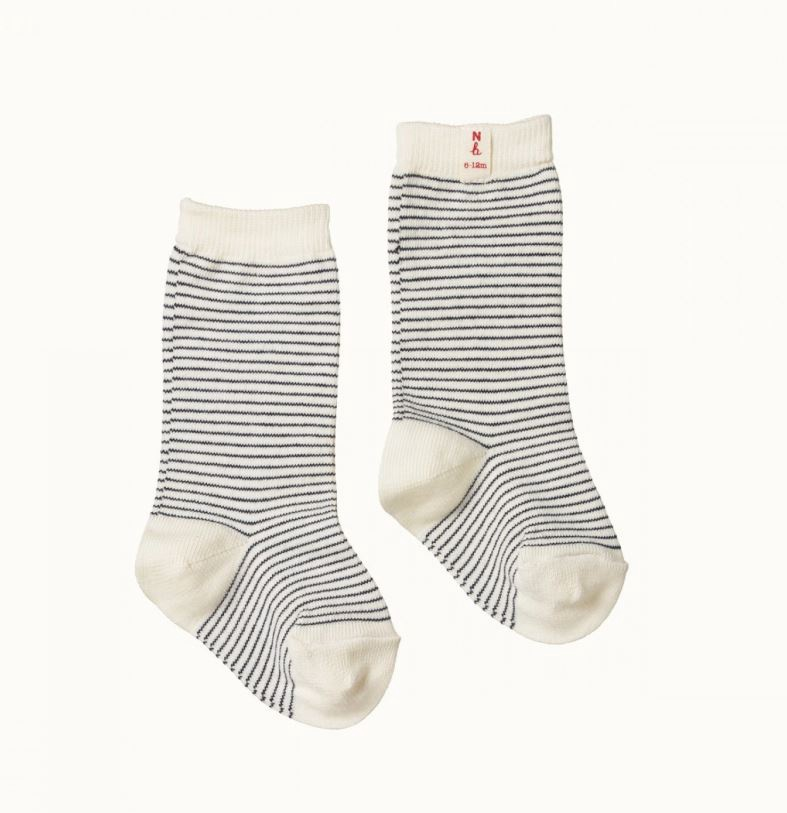ORGANIC COTTON SOCKS - NAVY STRIPE