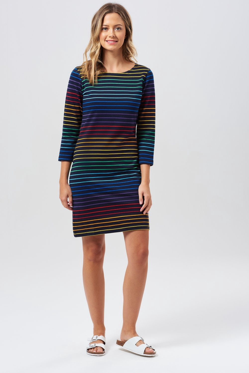 Triple Rainbow T-Shirt Dress