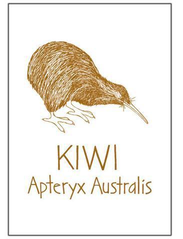 Tea towel Brown kiwi