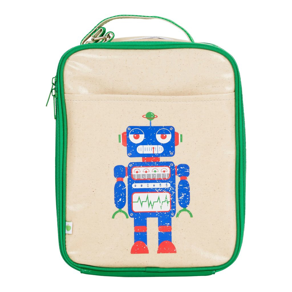 Apple and Mint Lunch Bag - Robot