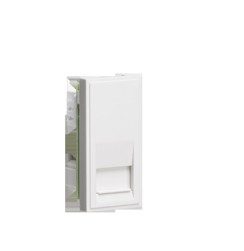 White Modular Telephone Slave Outlet IDC