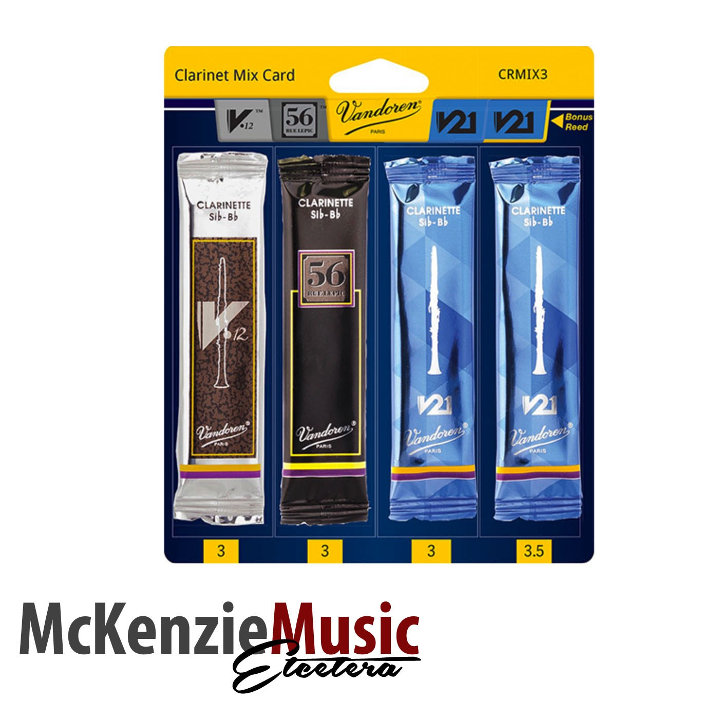 Vandoren Classic Clarinet Reed Mix Pack