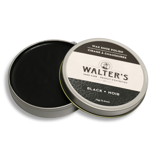 WALTER'S SHOE CARE - BLACK WAX POLISH