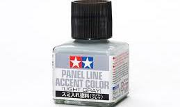Tamiya #87189 Panel Line Accent Colour (Light Grey)