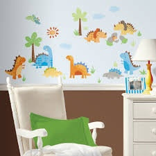 PEEL & STICK BABYSAURUS WALL DECALS