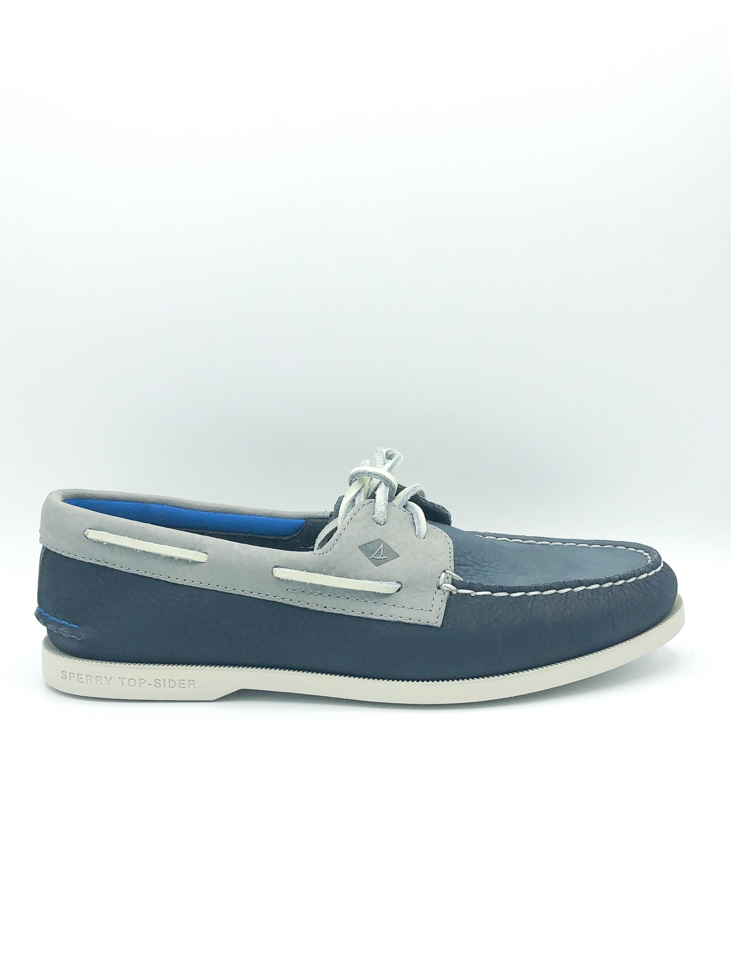 SPERRY - A/O 2 EYE PLUSH IN WASHED NAVY/GREY