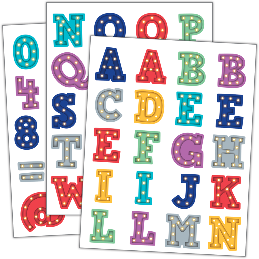 TCR 3519 MARQUEE ALPHABET STICKERS