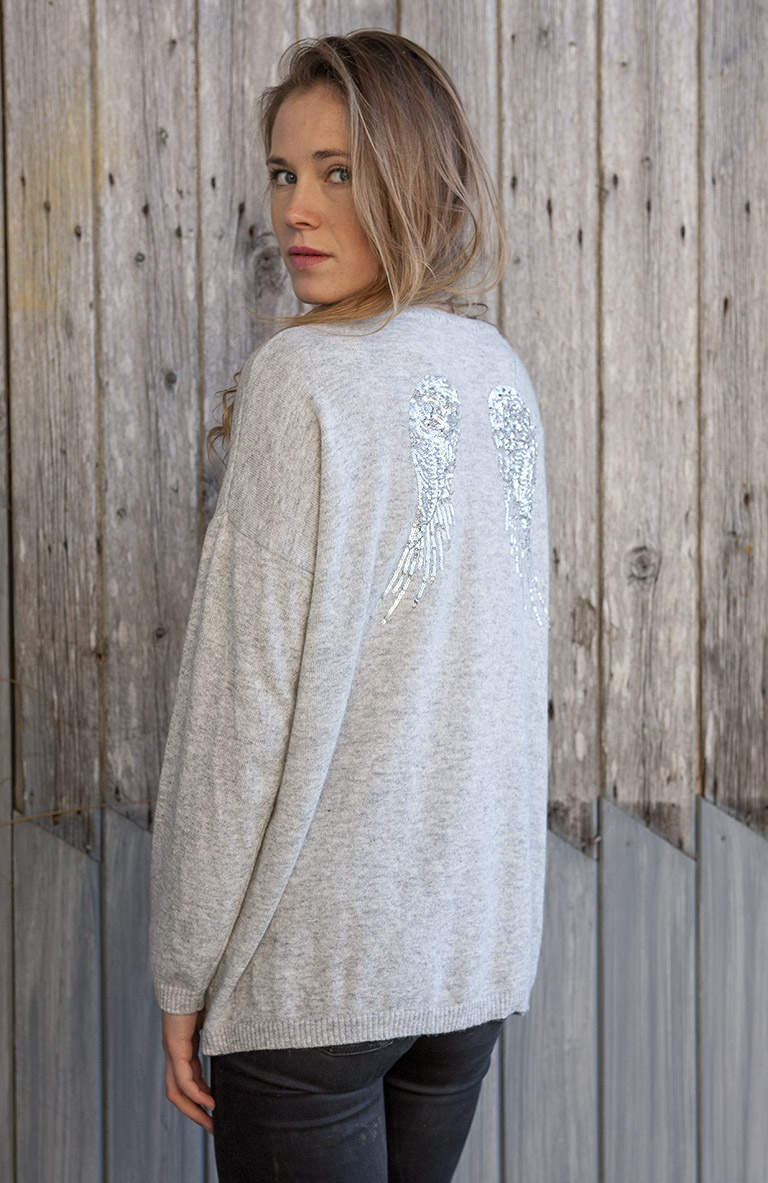Luella jumper with sequin wings