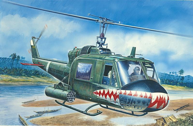 Italeri #71050 1/72 UH-1C Gunship Starter Set