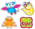 T 46323 OWL STAR AND FRIENDS SHAPE STICKERS