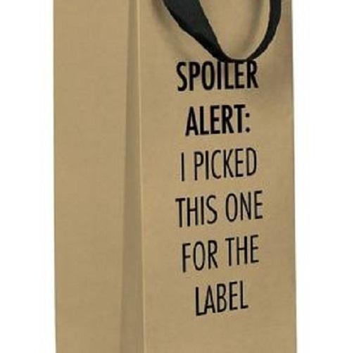 Spoiler Alert Wine Bag