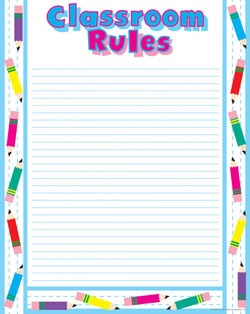 CTP 5588 CLASSROOM RULES CHART