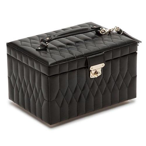 Caroline Medium Jewelry Case | Black