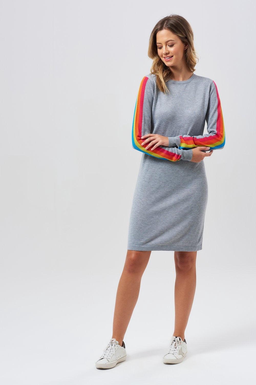 Evie Racing Stripes Knit Dress