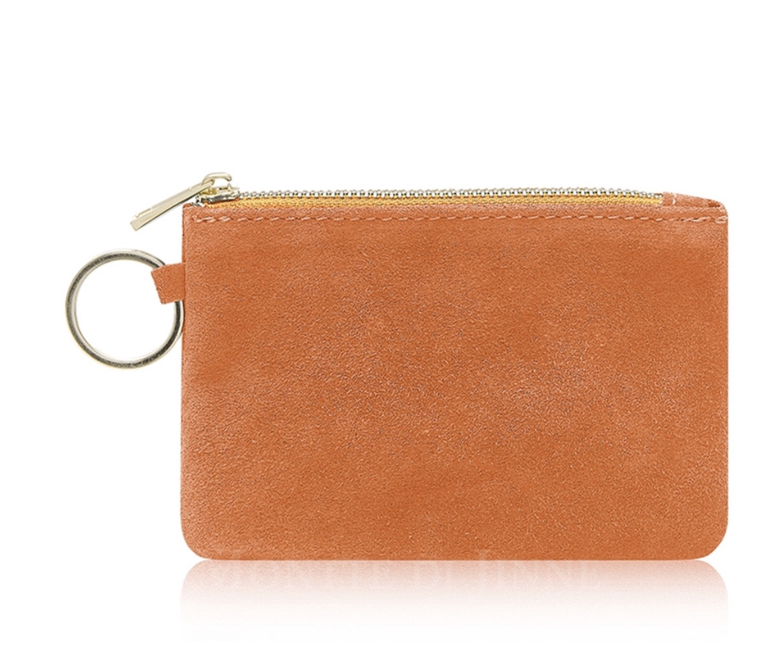 Suede coin purse. Available in 5 colours