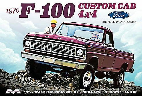 Moebius Models #1230 1/25 1966 Ford F-100 4X4 Custom Cab