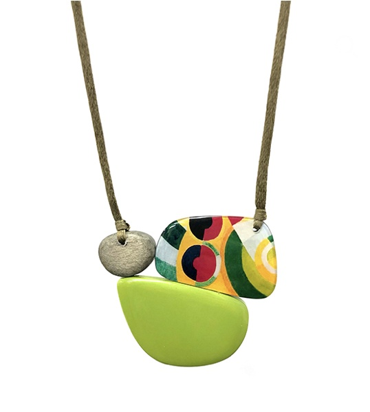Retro Jungle Necklace ( lime)