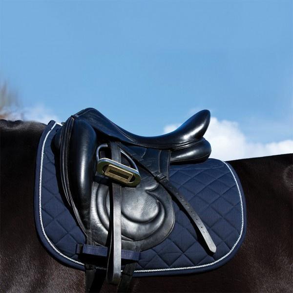 Horseware Rambo Everyday Dressage Pad | Navy/Beige/Baby Blue