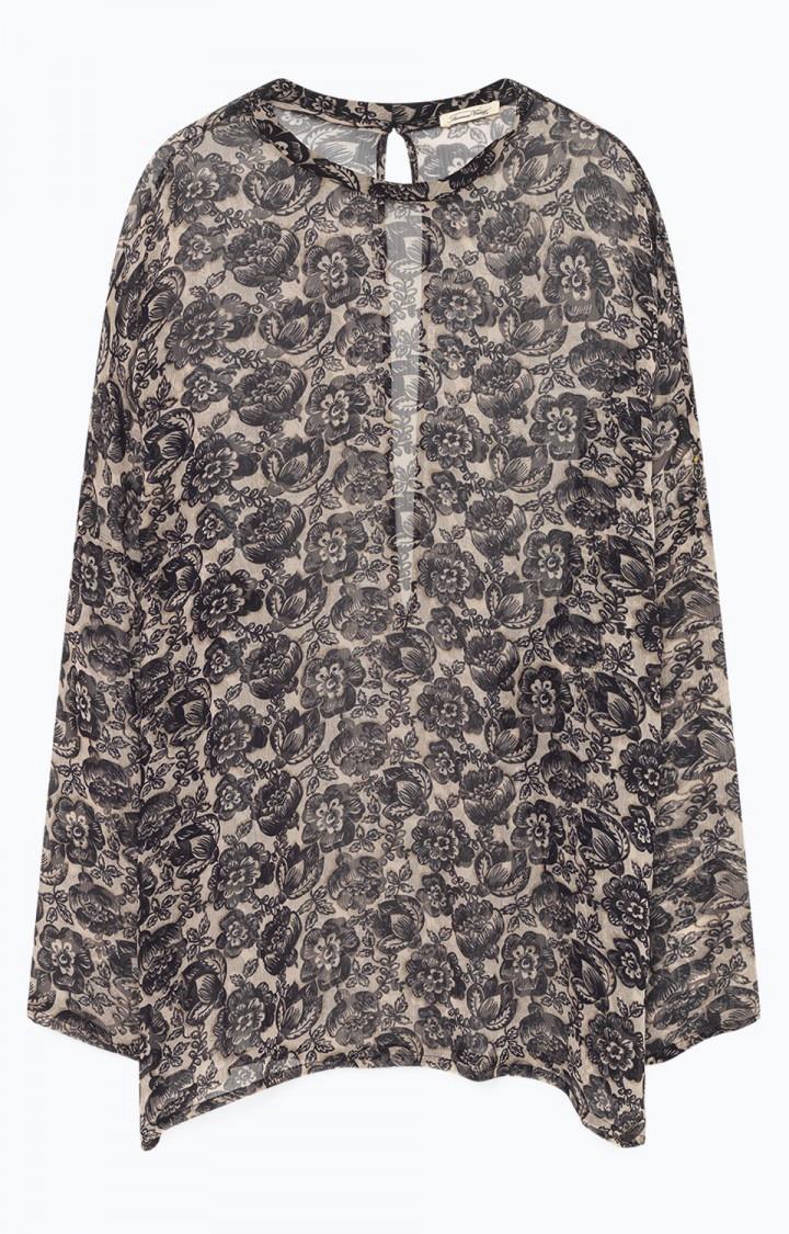 American Vintage Sheer Cosawood Blouse