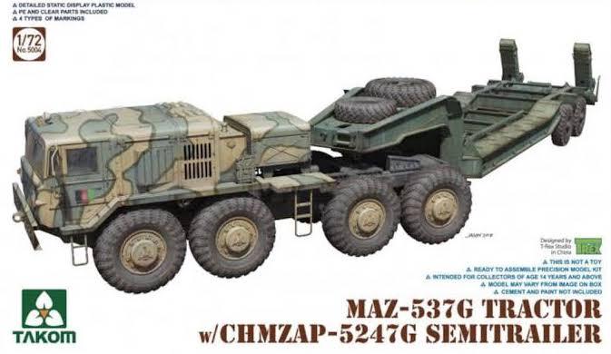 Takom #5004 1/72 Russian Army Tank Transporter
