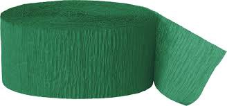 CREPE STREAMER FESTIVE GREEN
