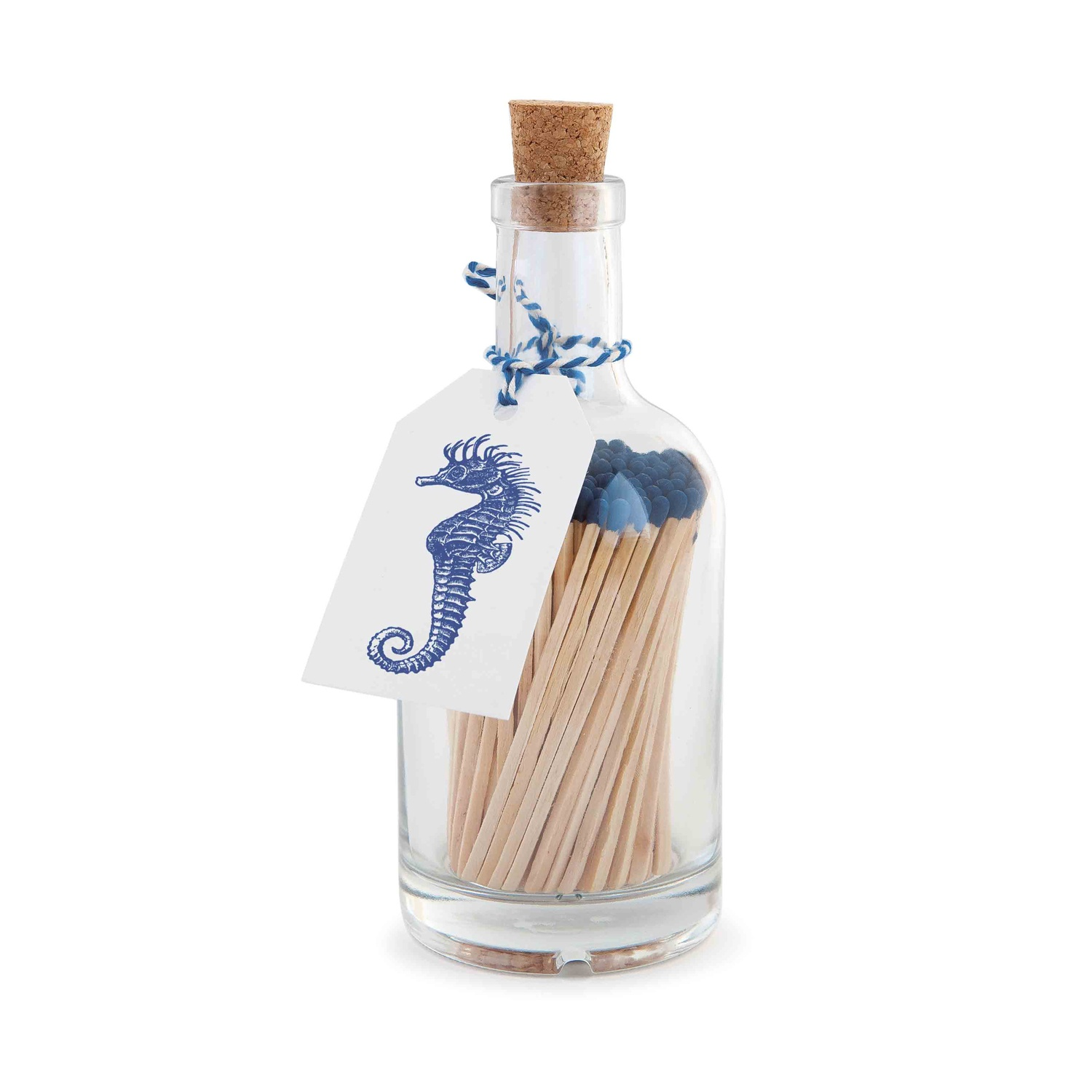 Blue and White Seahorse Bottle