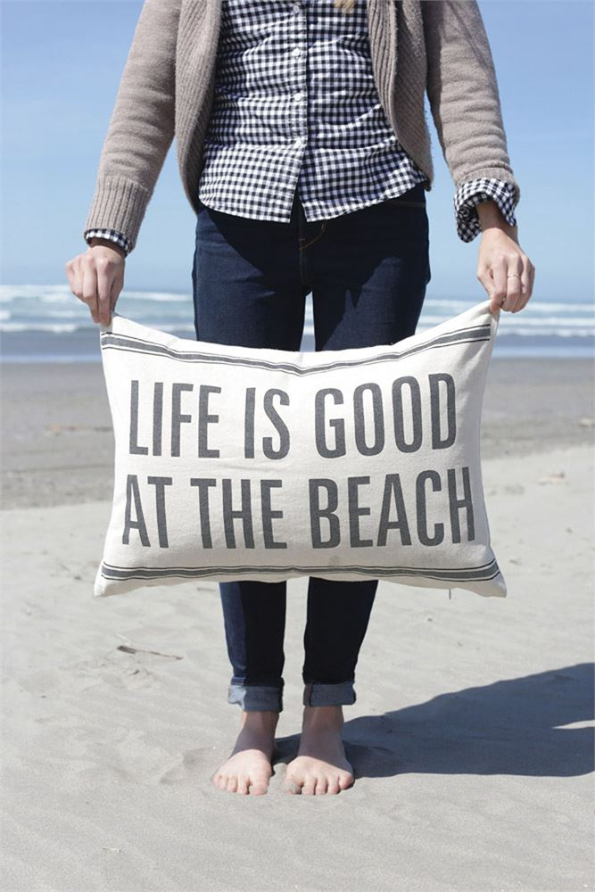 CC - Life Is Good at the Beach Pillow