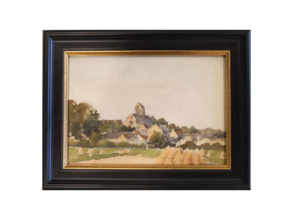 French Villiage Landscape C. 1960