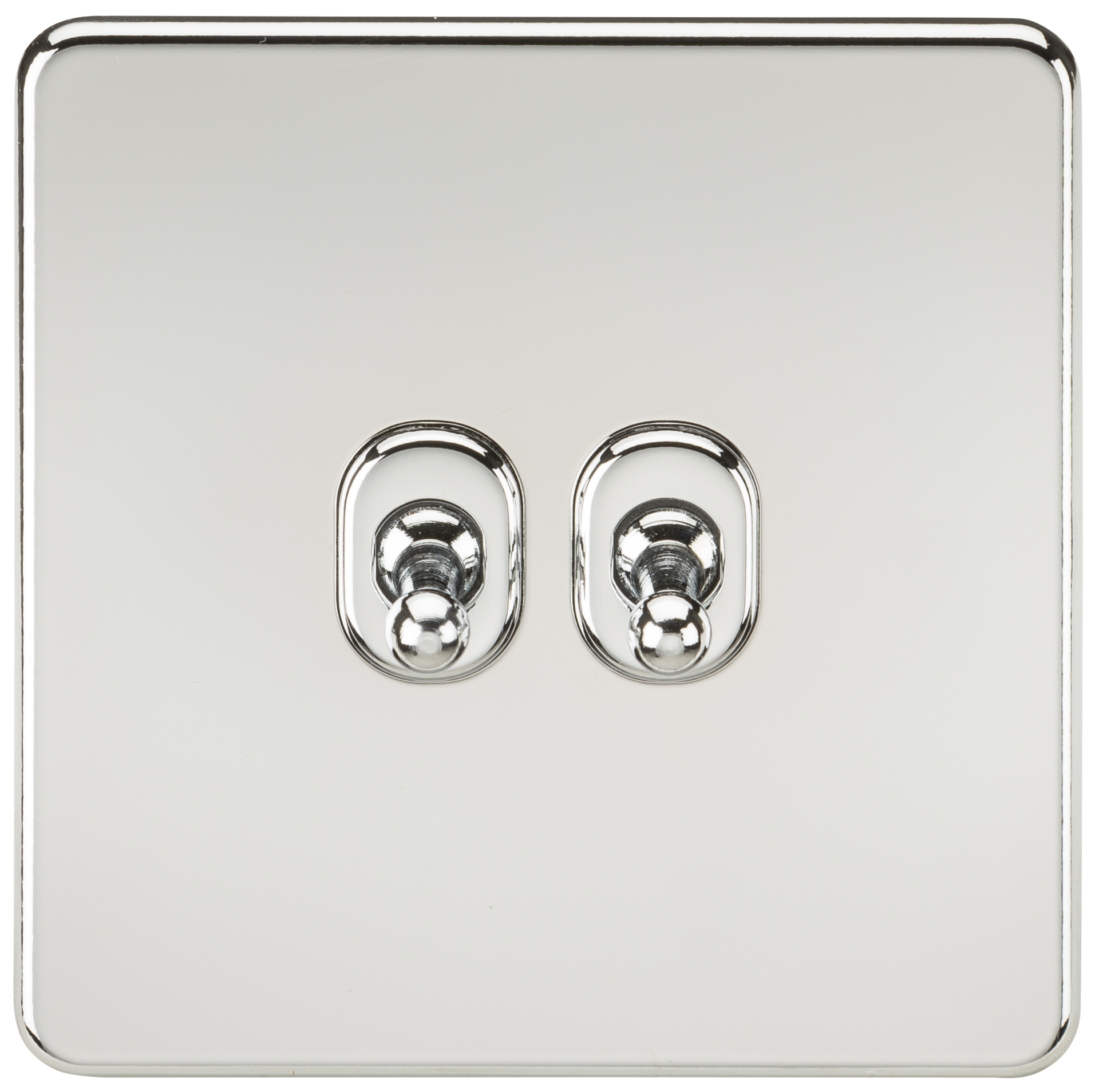 SCREWLESS 10A 2G 2 WAY TOGGLE SWITCH - POLISHED CHROME