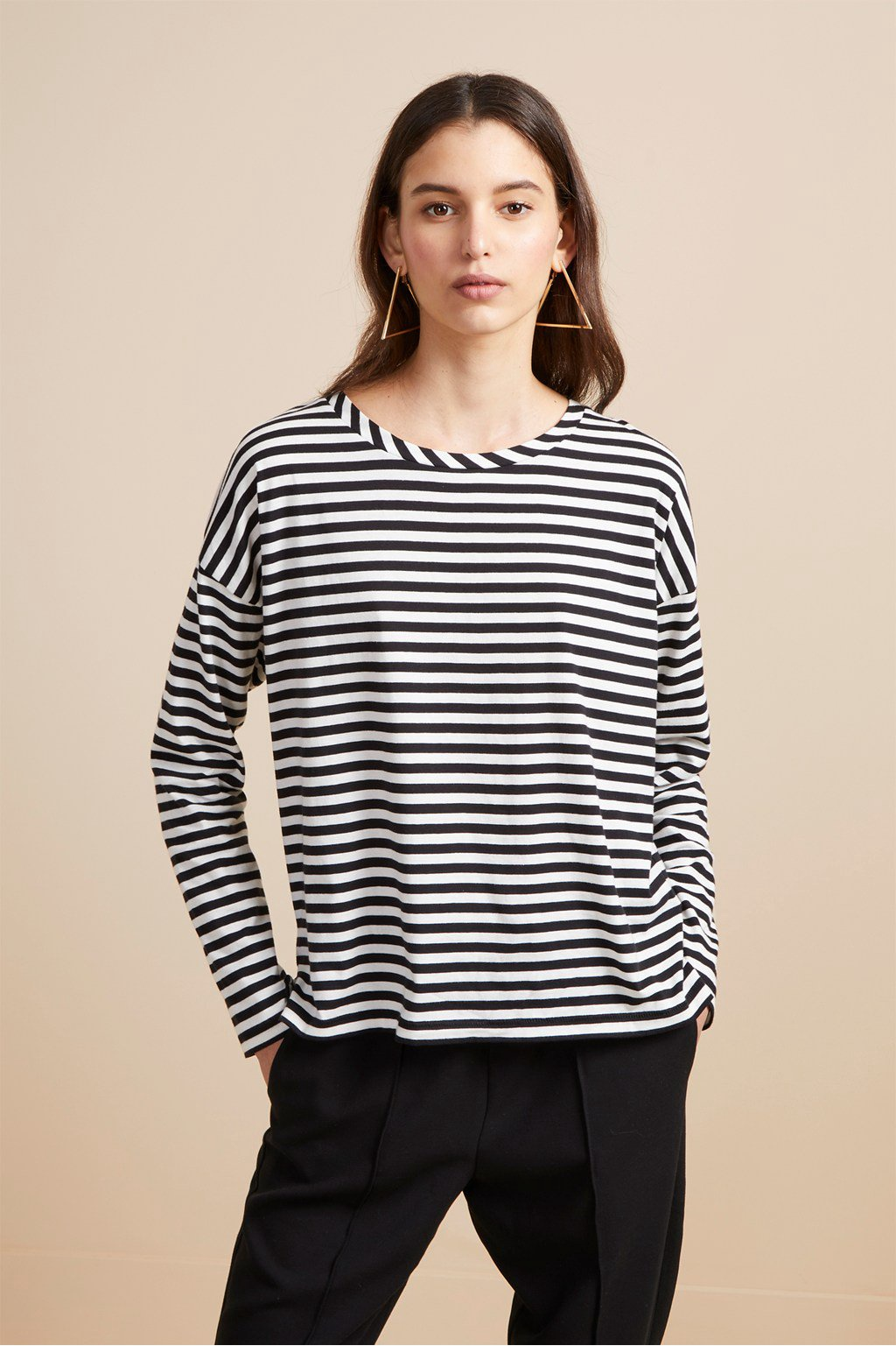 French Connection Stripe Tee 76KBF