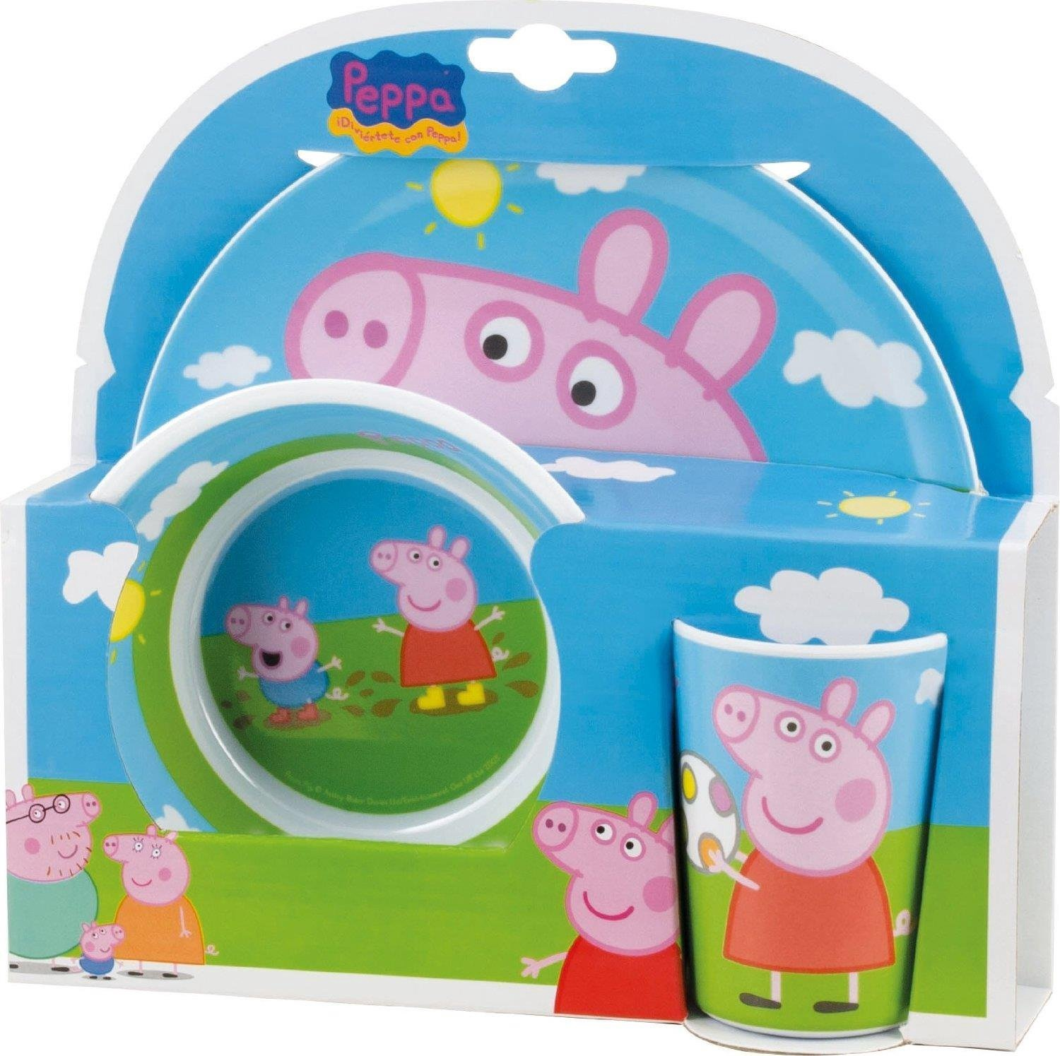 PEPPA PIG TABLEWARE 3PC
