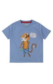 Applique t-shirt fishing tiger