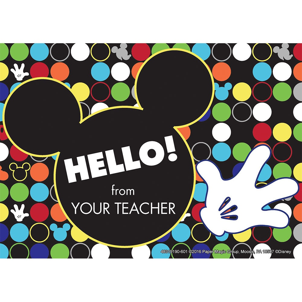EU 831919 GEO MICKEY TEACHER CARDS