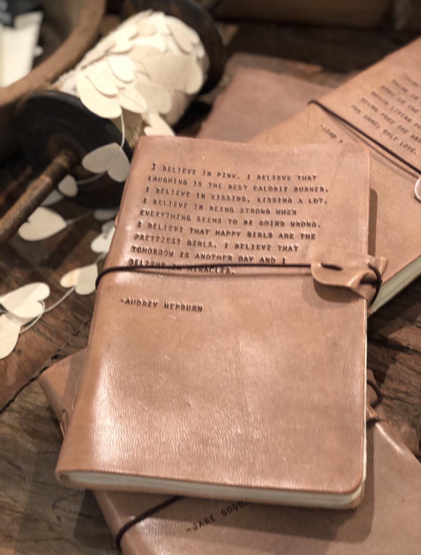 SB- Artisan Leather Journal - Audrey Hepburn - 5.75