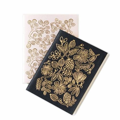 Gold Foil Pocket Notebook Pair