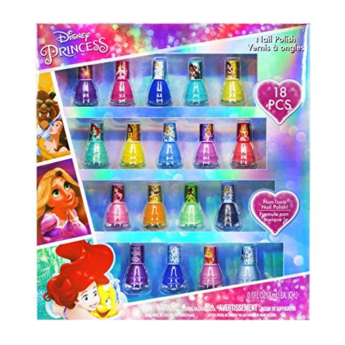 PRINCESS 18PK NAIL POLISH IN WINDOW BOX