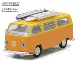 Greenlight #29893 1/64 1971 VW Type 2 Van with Surfboards