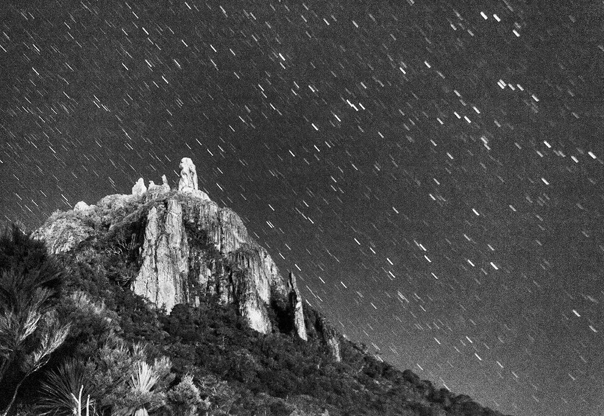 Star Trails Mount Manaia