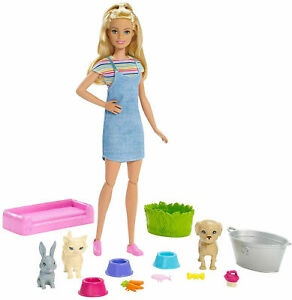 BARBIE PLAN'N'WASH PETS DOLL AND PLAYSET