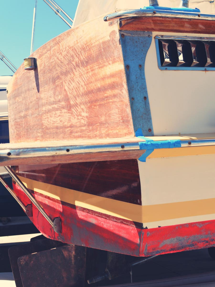 Red Wooden Boat Renovation