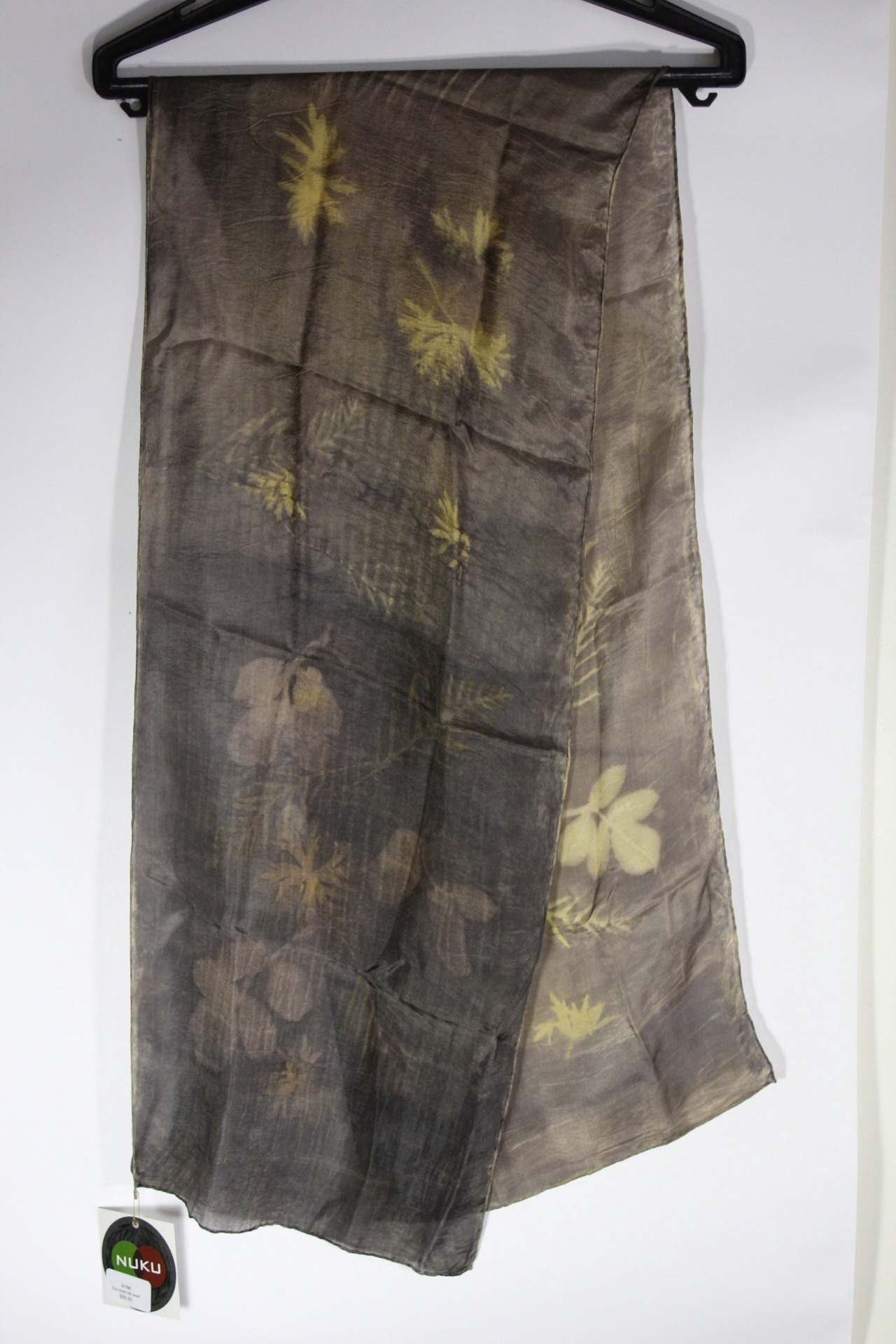 Eco-dyed silk scarf
