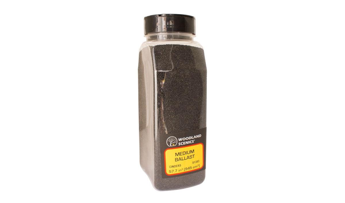 Woodland Scenics #B1383 Medium Ballast Cinders Shaker