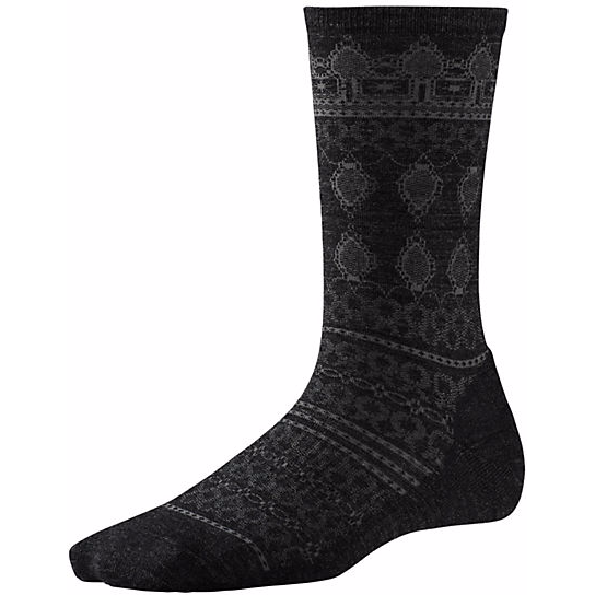 SMARTWOOL - LACET CREW IN CHARCOAL HEATHER