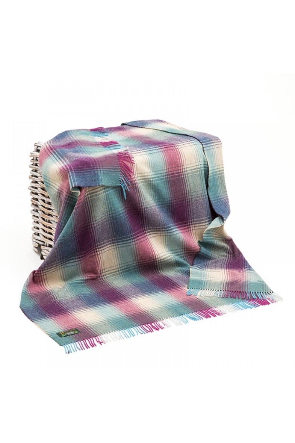 Heather Plaid Lambswool Throw